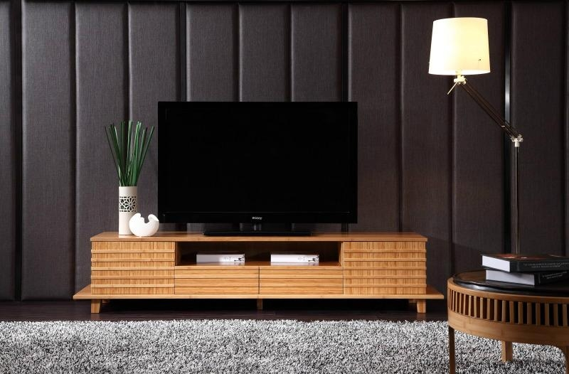 Unique design bamboo living room tv cabinet stand k106 for Lcd cabinets designs in living room