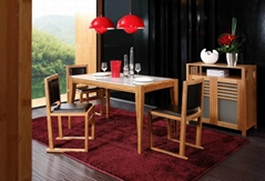 Fashion concise bamboo furniture marble dining table