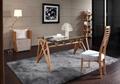 Cheap modern bamboo furniture glass