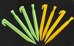 Plastic tent peg stake,tent nail hook ground pin camping accessory 50602