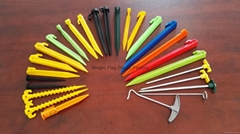 Plastic tent peg stake tent nail hook ground pin camping accessory 50605