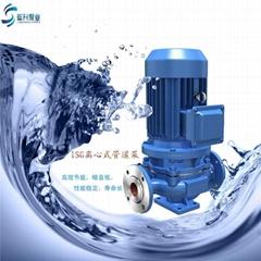 供应山东管道泵ISG50-125立式单级1.5KW清水管道离