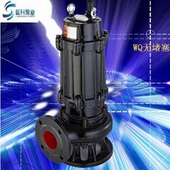 厂家直销WQ无堵塞潜水排污泵80WQ65-20-5.5污水杂