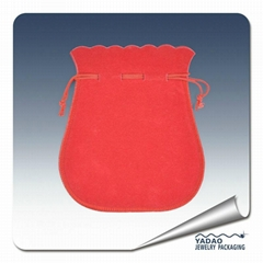 Factory supply custom gift pouch with drawstring