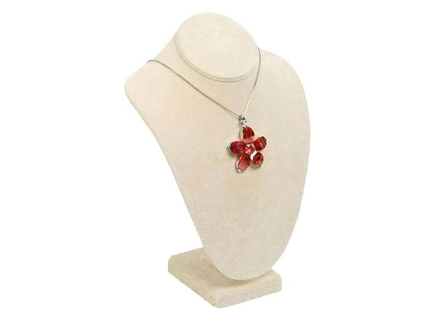 Fashion leather jewelry display for necklace bust display made in China  1