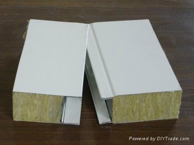 岩棉彩钢夹芯板 1