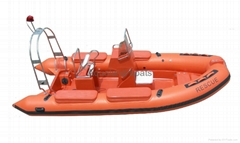 RIB boat Hypalon boat Inflatable RESCUE BOAT