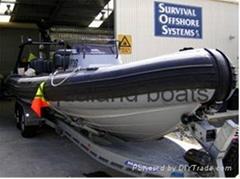 RIB Boat rigid inflatable Boat Hypalon Rescue  Military boat