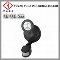 14 W Single light outdoor led wall spot light with motion sensor