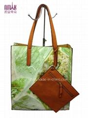 Print Flower High Capacity Shopping Bags Paper Bags (N-1096)