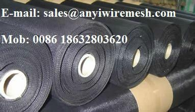 Black wire cloth or Black wire mesh 1