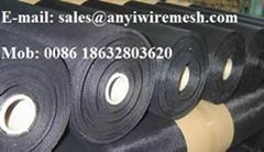 Black wire cloth or Black wire mesh