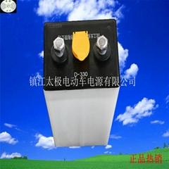 牵引车平板车电池D-330牵引电池