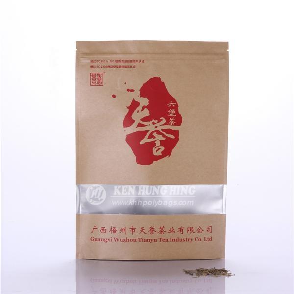 High Quality Stand up Zip Lock Kraft with Window Tea Bag Coffee 1