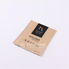 High Quality Customize 3-side Seal Kraft Paper Coffee Beans Packaging