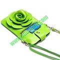 18.5x12cm Rose Flower Pattern Full View Window Design Magnetic Snap Universal Mu 1