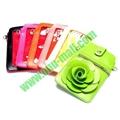 18.5x12cm Rose Flower Pattern Full View Window Design Magnetic Snap Universal Mu 5
