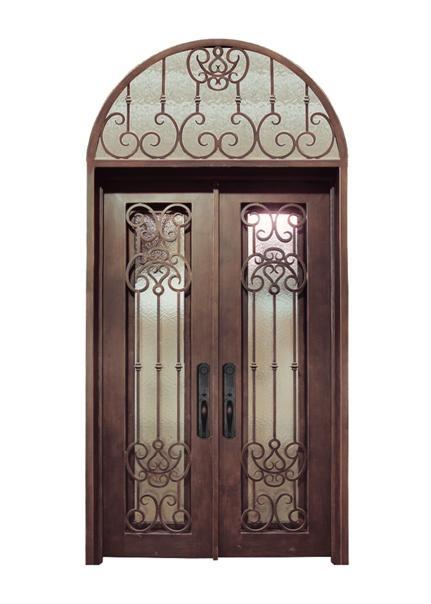 wrought iron door double door 2