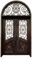 wrought iron door double door