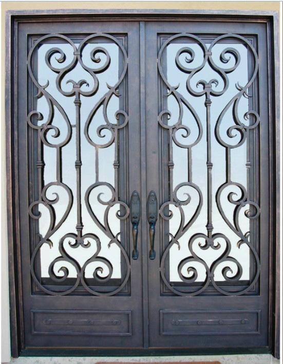 wrought iron door double door 3