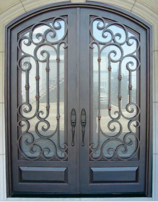 wrought iron door double door 4