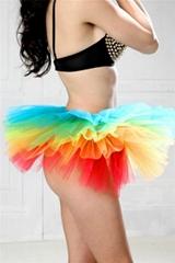 Pluffy Rainbow Layered Tutu Petticoat By Eve's Night