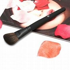 Free Shipping 2014 New Goat Hair Metal Handle Angle Professional Makeup Powder B