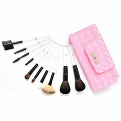 Free Shipping 10pcs Acrylic makeup new top quality makeup gift sets brushes for