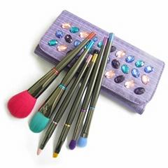 6pcs Colorful beauty cosmetics makeup brand Foundation Blush makeup Brushes set
