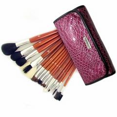 Free Shipping 15pcs Wood  Makeup Kit Cosmetic professional makeup brushed sets