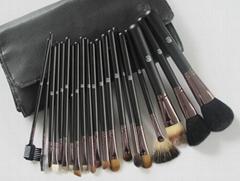 Hot Sale! Free Shipping 20 pcs Brown makeup brushes Make up Kit Makeup Set With
