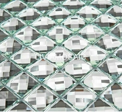 PM112 Silver diamond mirror glass mosaic
