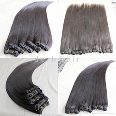 20 Inch Natural Color Unprocessed Brazilian Virgin Hair Weft