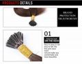 "Blonde I Tip Hair Extenisons 14""-26""  Keratin Stick Tip Hair Extensions 3"