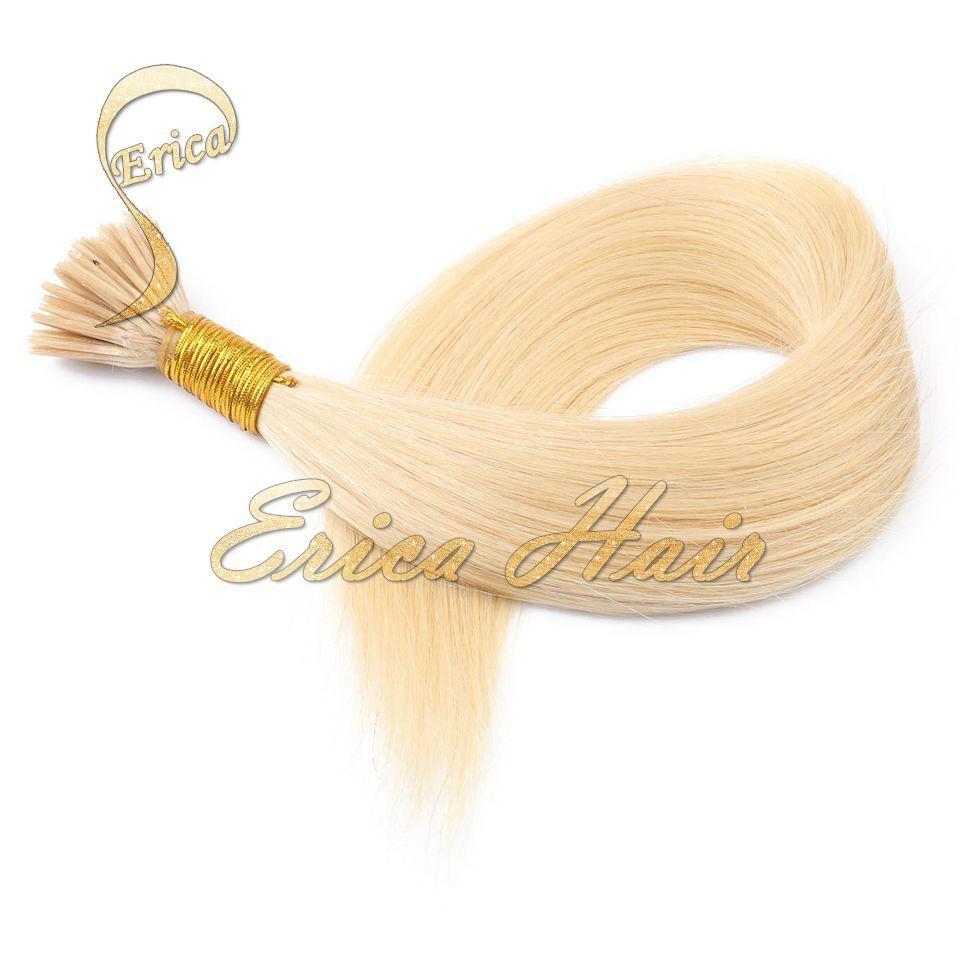 "Blonde I Tip Hair Extenisons 14""-26""  Keratin Stick Tip Hair Extensions 1"