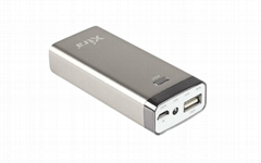 Wholesale - Portable mobile power bank 5200mah in silver