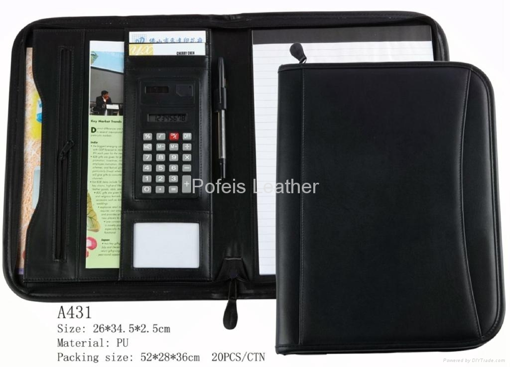 New Brand Business A4 leather File Folder 2