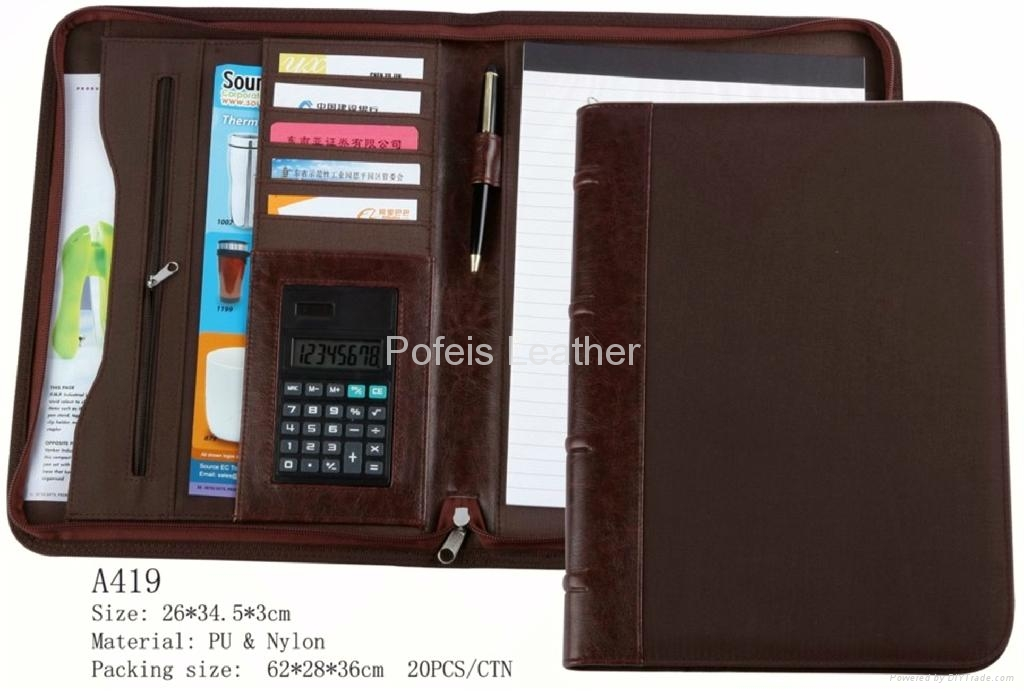 New Brand Business A4 leather File Folder 1