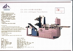 Napkin tissue machine