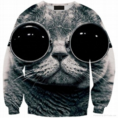 Women's Fashion 3D Print Bodycon Hoodies Europe Style Casual Sweater