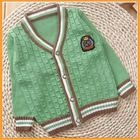 Baby V-neck cable knitted cardigan