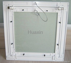 Aluminum access panel with ropes