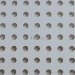 ACOUSTIC PERFORATED PLASTERBOARD-ROULD HOLE