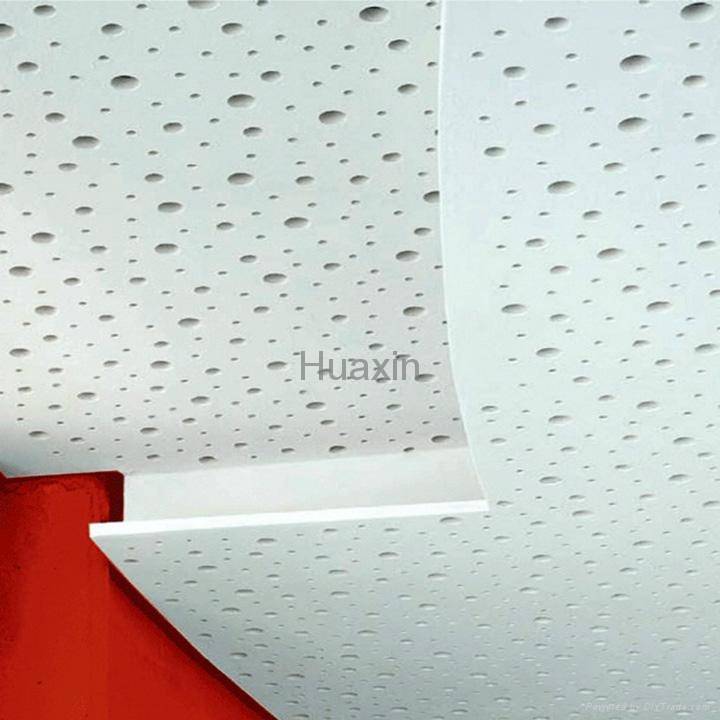 Acoustic perforated plasterboard-irregular holes
