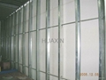 Zinc coated steel profiles for wall partition