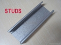 Zinc coated steel profiles for wall