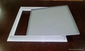 White painted aluminum access panels fire rated