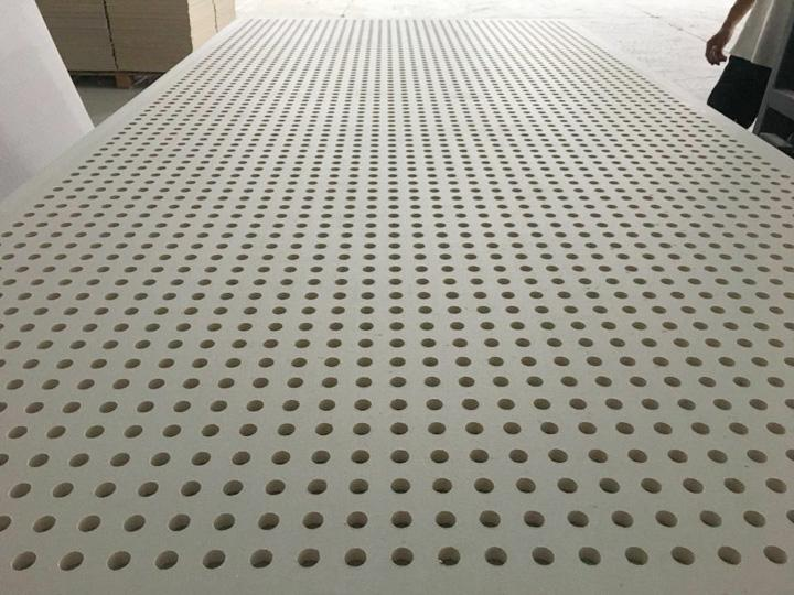 Acoustic perforated plasterboard-round hole 6