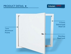 Best quality aluminum access doors with lock and key for clean place