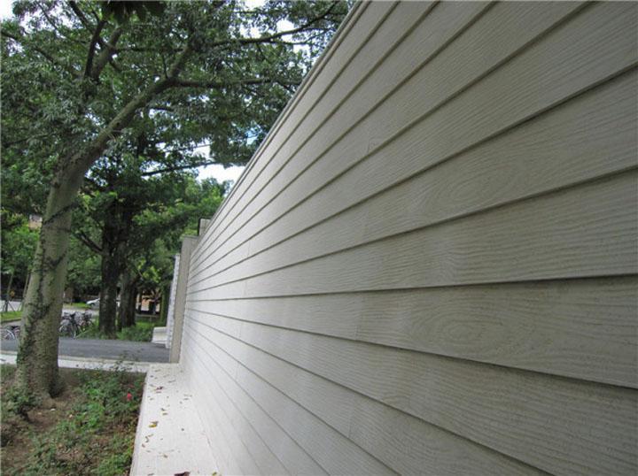 wood grain cement board wall
